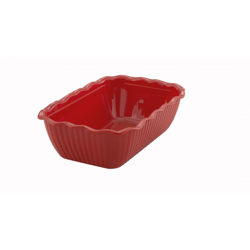 Deli Crock, 10 inches x 7 inches x 3 inches, Red