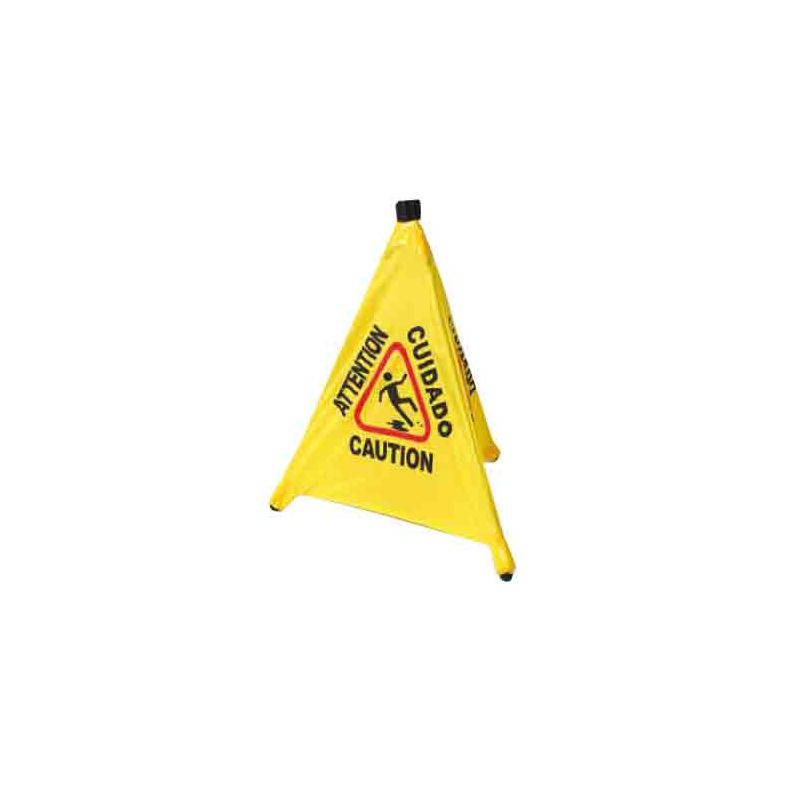 Caution Sign, Pop-up Safety Cone