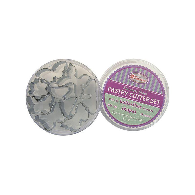 Cookie Cutter Set, Butterflies, 8pcs, S/S