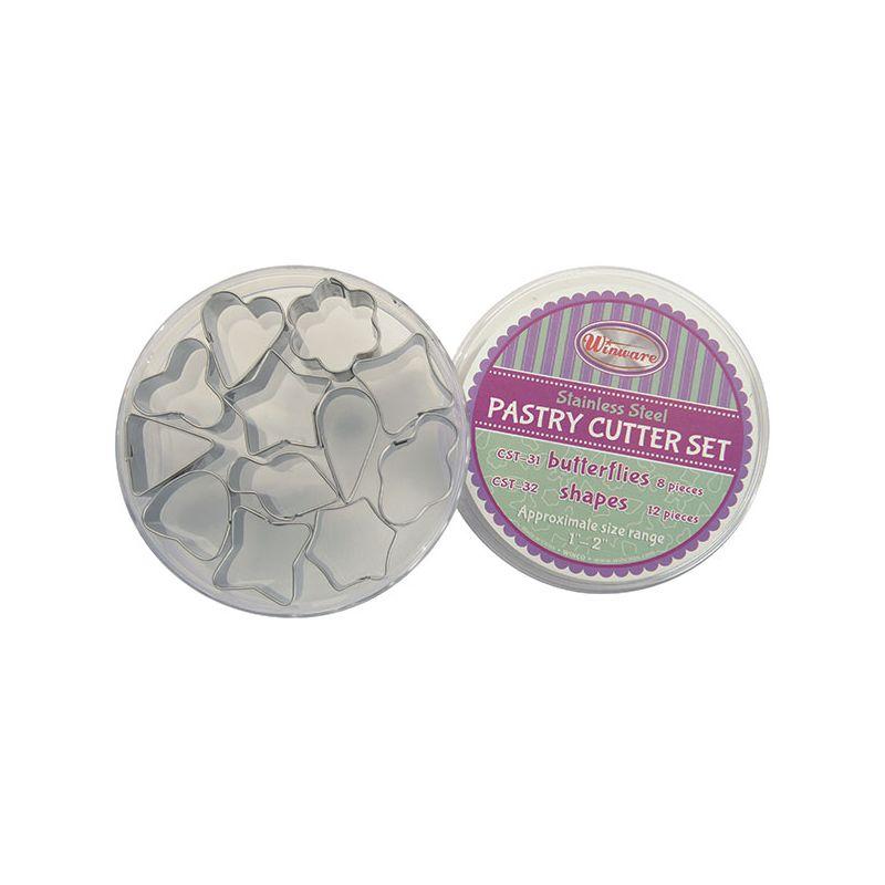 Cookie Cutter Set, Shapes, 12pcs, S/S