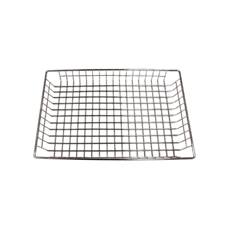 Doughnut Basket, 12 inches x 18 inches x 2 inches, Nickel Plated
