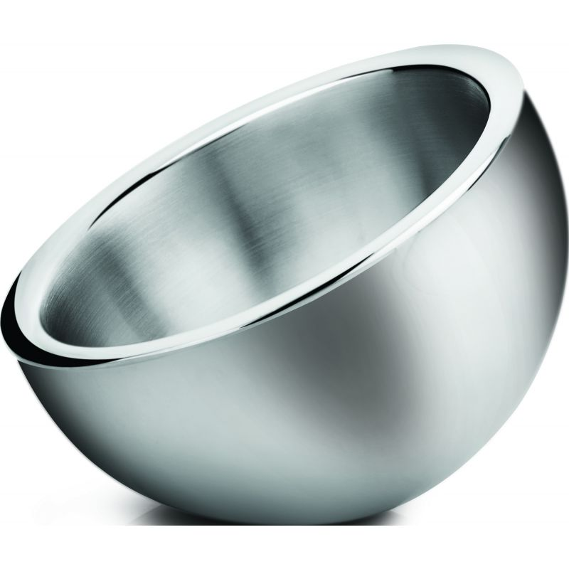 1-1/2qt Angled Display Bowl, Double Wall Insulated, S/S