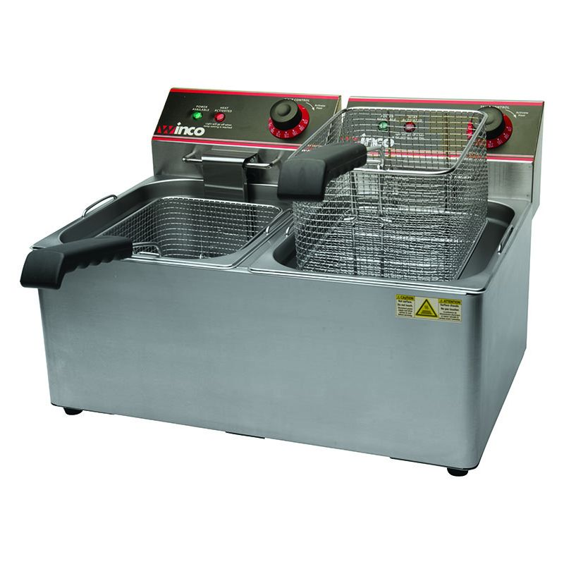 Electric Fryer, Twin Well, 32Lbs Capacity, 120V