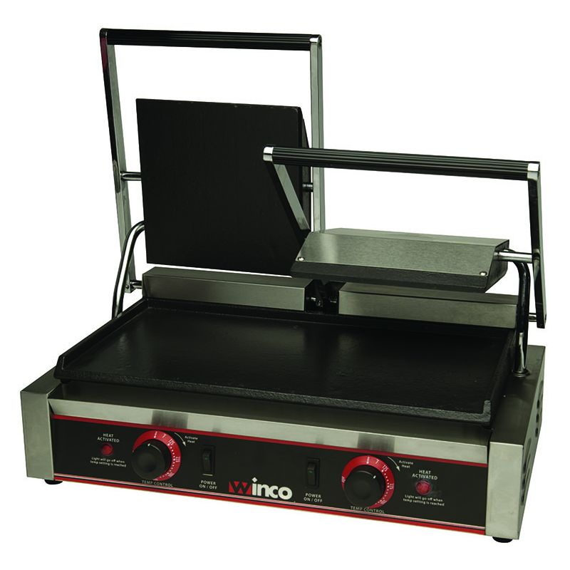 Sandwich Grill, Double, 9 inches Flat Plates, 120V