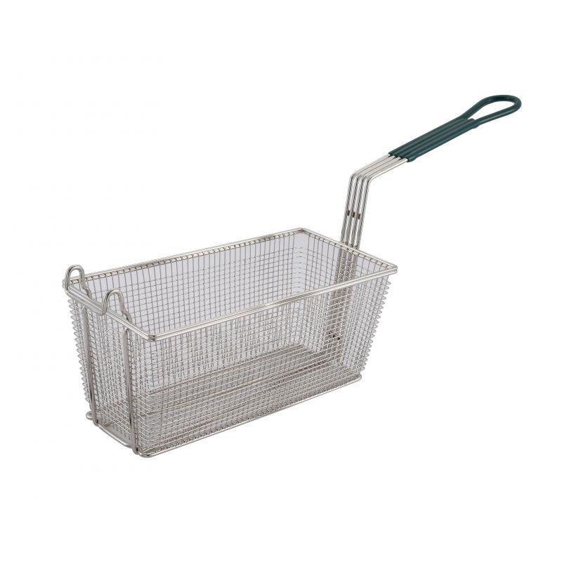 Fry Basket, 13-1/4 inches x 6-1/2 inches x 5-7/8 inches, 10 inches Green Hdl