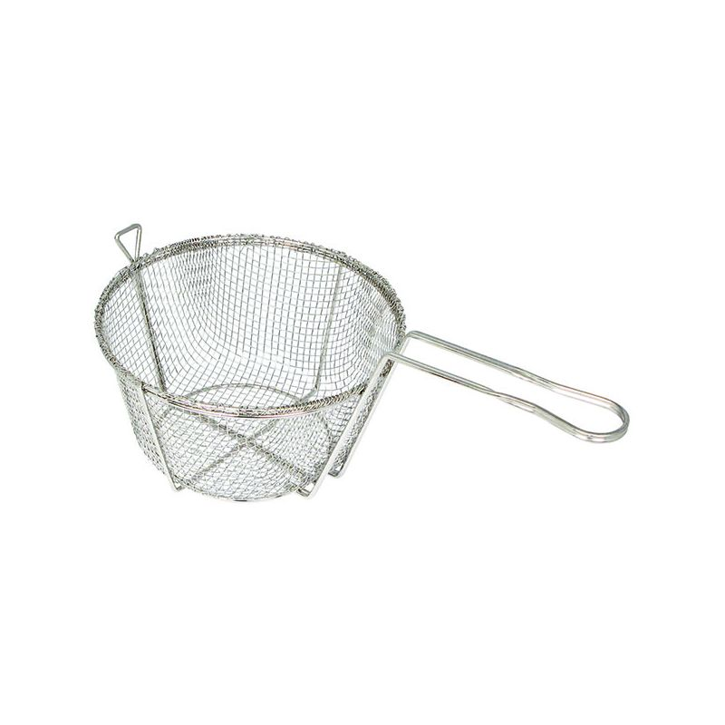 Fry Basket, Wire, 6 Mesh, 10-1/2 inchesDia x 6 inchesH
