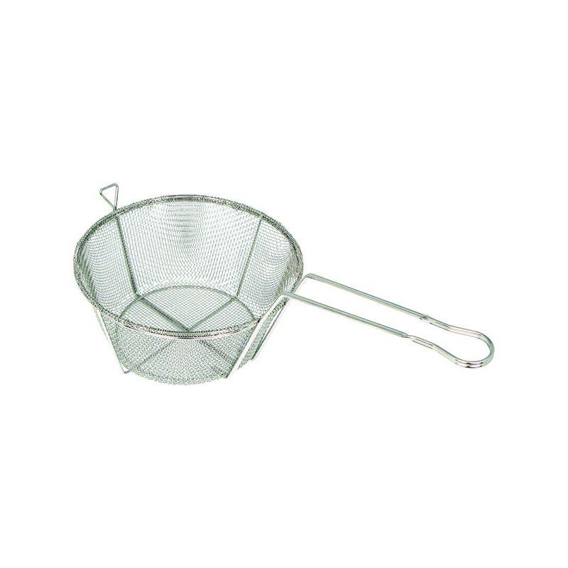 Fry Basket, Wire, 6 Mesh, 8-1/2 inchesDia x 4-1/4 inchesH