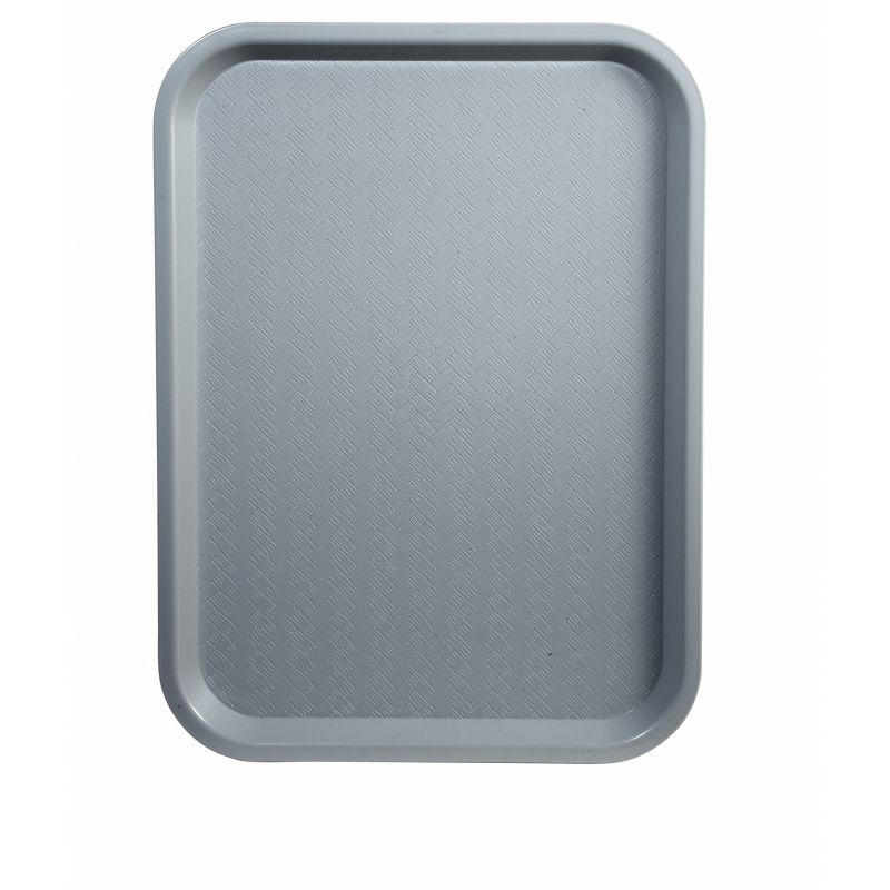 Fast Food Tray, 12 inches x 16 inches, Gray