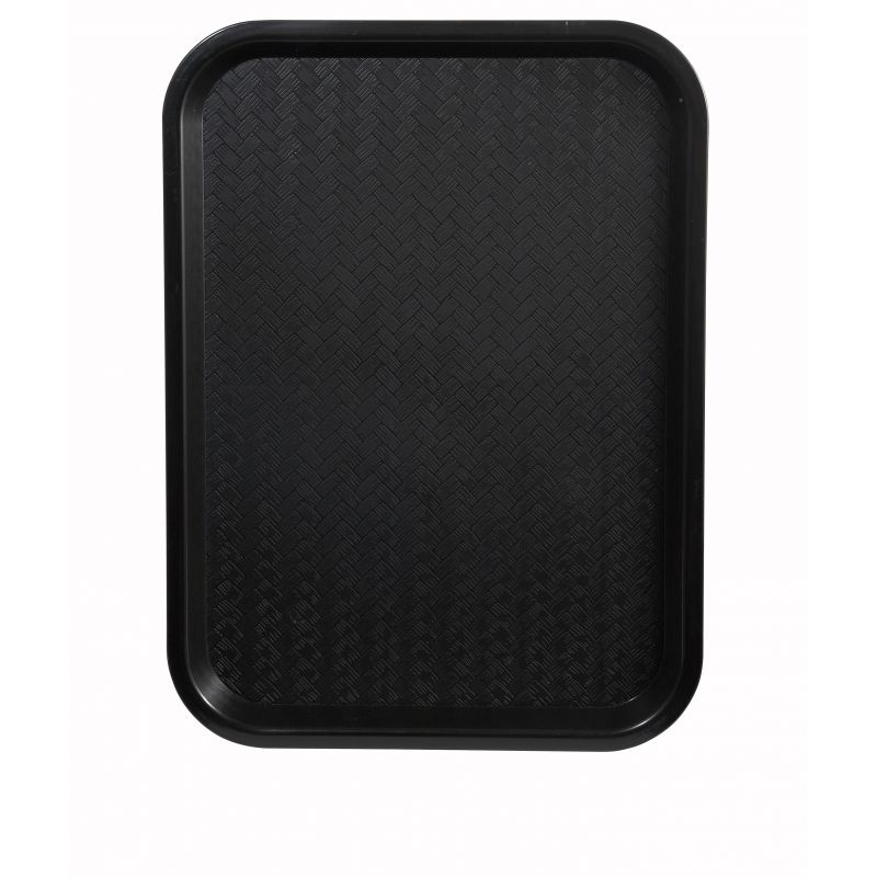 Fast Food Tray, 12 inches x 16 inches, Black