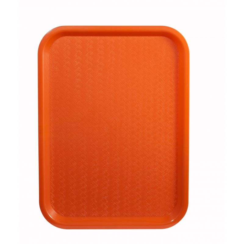 Fast Food Tray, 12 inches x 16 inches, Orange