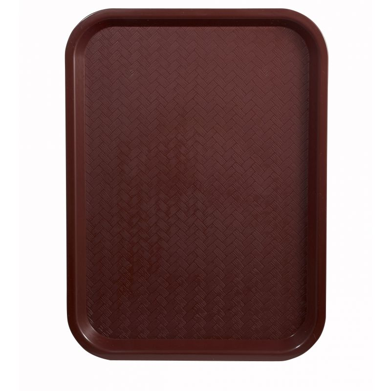 Fast Food Tray, 12 inches x 16 inches, Burgundy