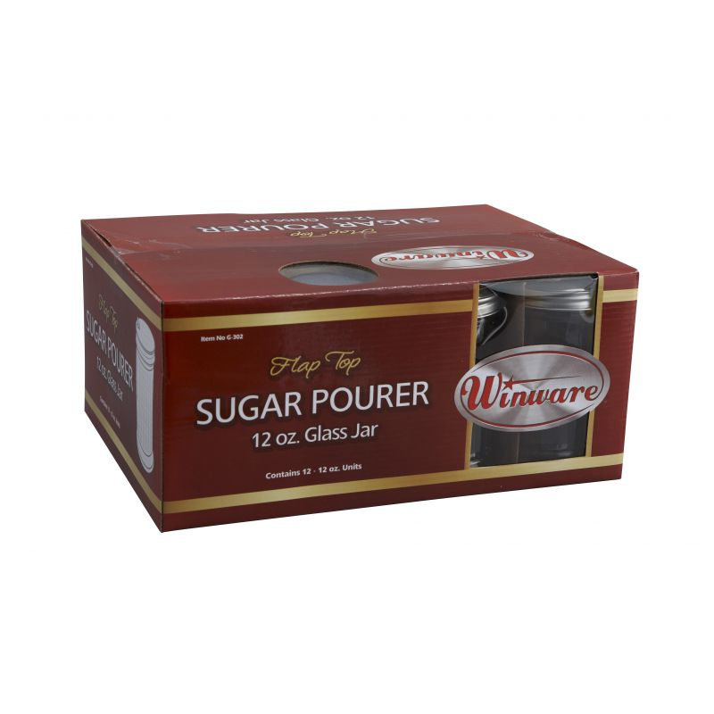 Sugar Pourer, 12oz, Flap Top, 12pcs/retail box