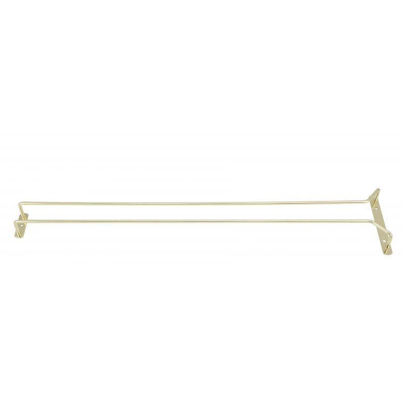 Wire Glass Hanger, Single Channel, 24 inches, Brass Plated