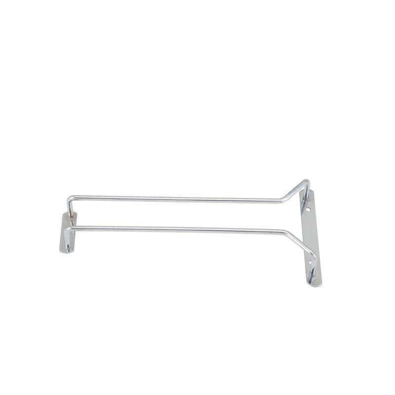 Wire Glass Hanger, Single Channel, 10 inches, Chrome Plated