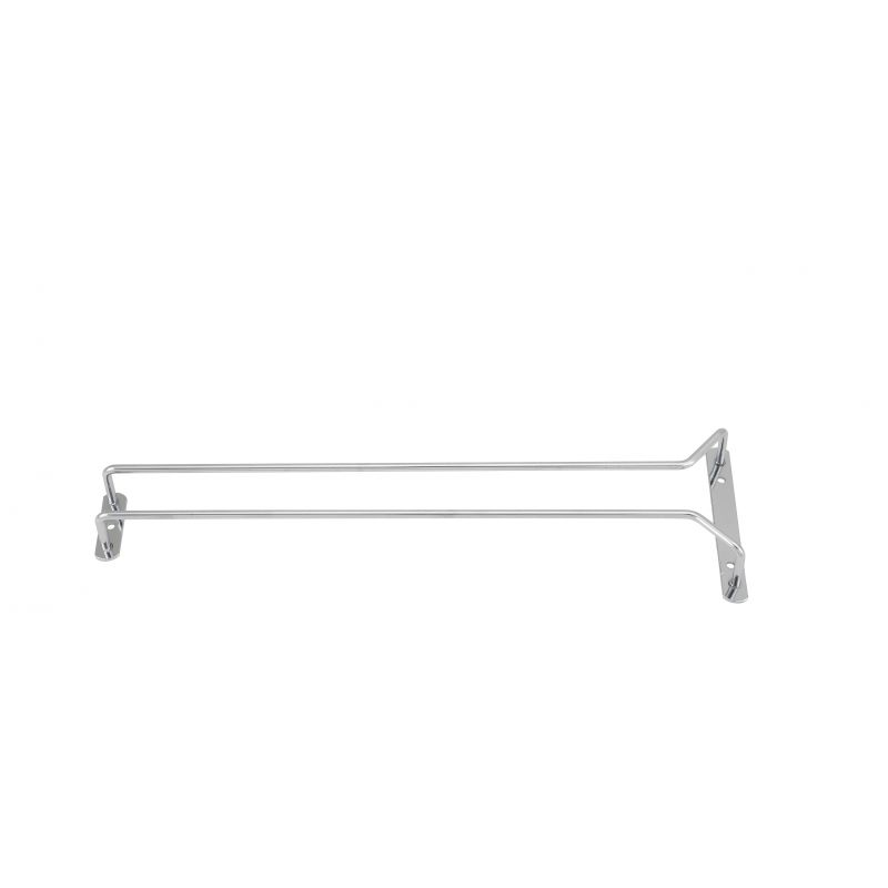 Wire Glass Hanger, Single Channel, 16 inches, Chrome Plated