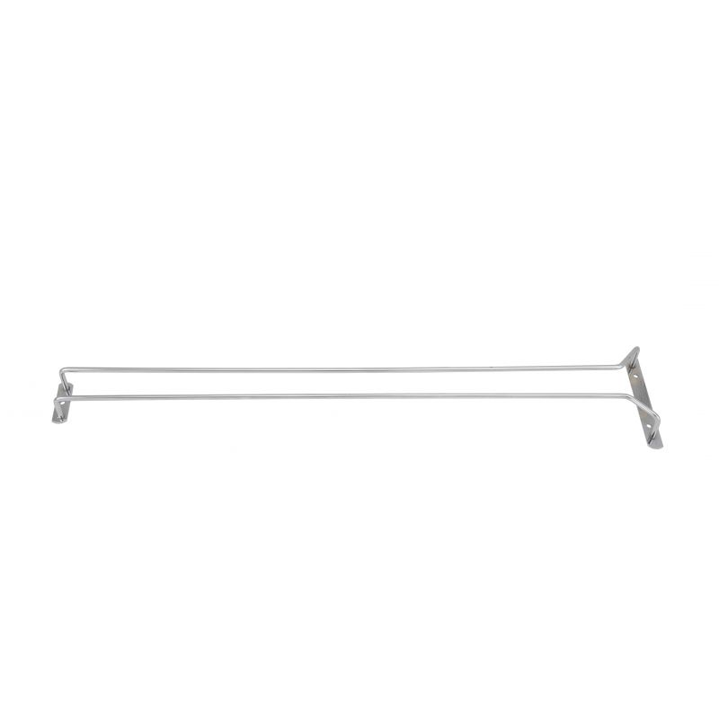 Wire Glass Hanger, Single Channel, 24 inches, Chrome Plated