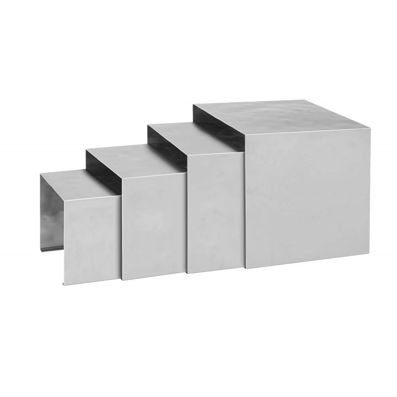 Premium Display Riser Set, 4pcs, S/S