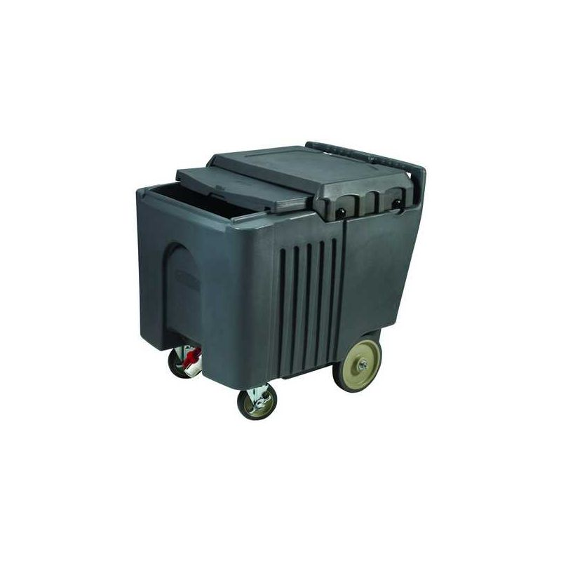 Ice Caddy w/Sliding Cover, Insulated, 125Lb Capacity