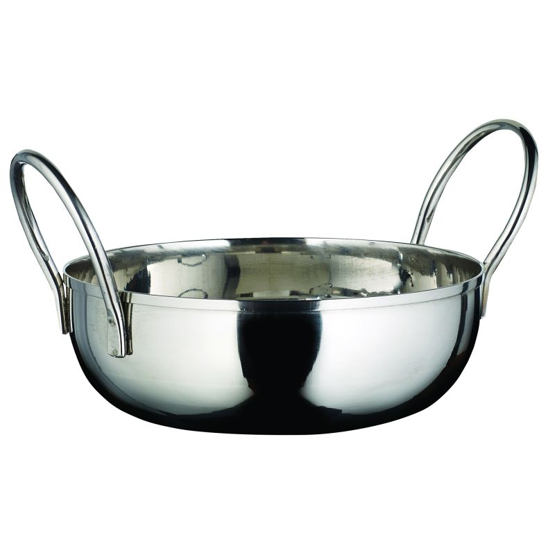 Kady Bowl with Welded Handles, S/S, 20 oz., 5 inches Dia., 1.5 inches H