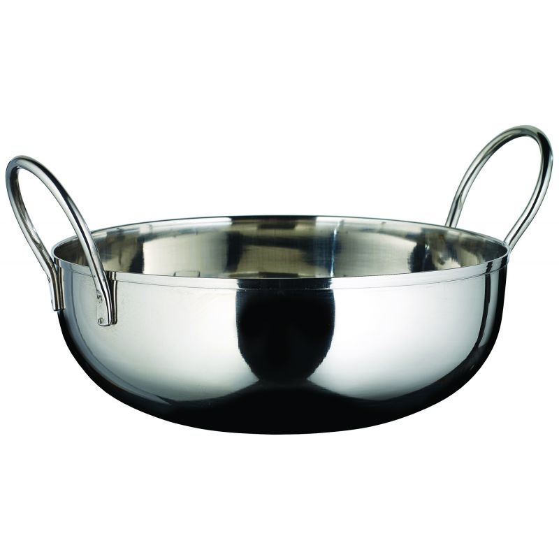 Kady Bowl with Welded Handles, S/S, 40 oz., 7 inches Dia., 1.5 inches H