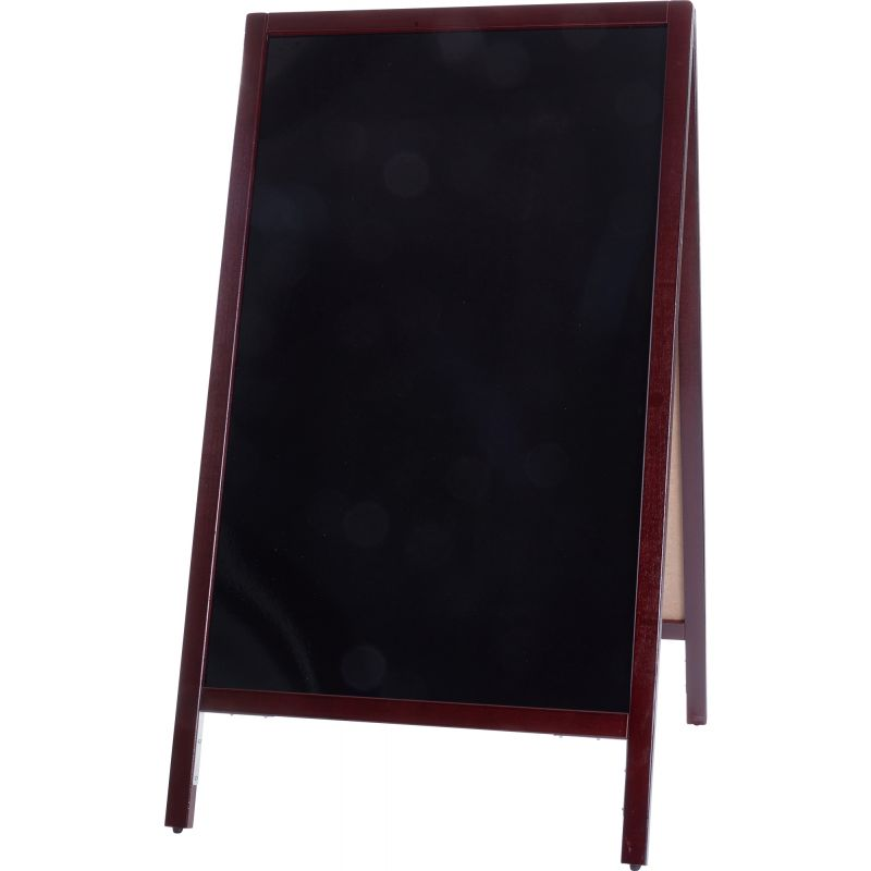 Marker Board, A-Frame, 44 inches x 25-1/4 inches, Mahogany