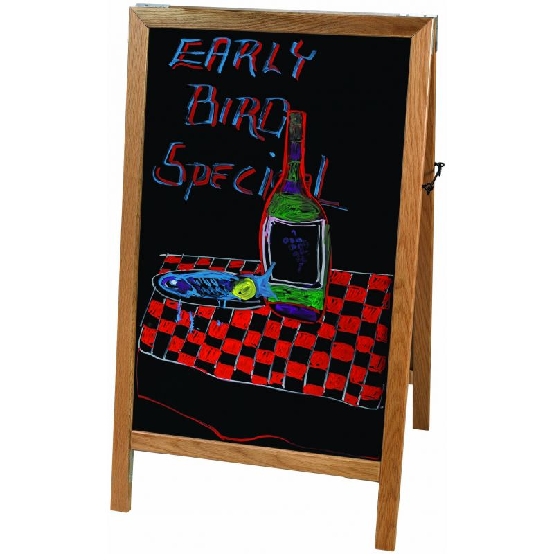Marker Board, A-Frame, 45 inches x 26-1/4 inches, Natural