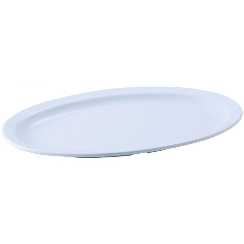 13 inches x 8 inches Melamine Oval Platters, Narrow Rim, Tan