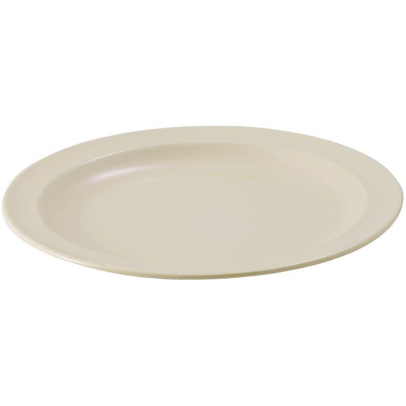 10-1/4 inches Melamine Round Plates, Tan