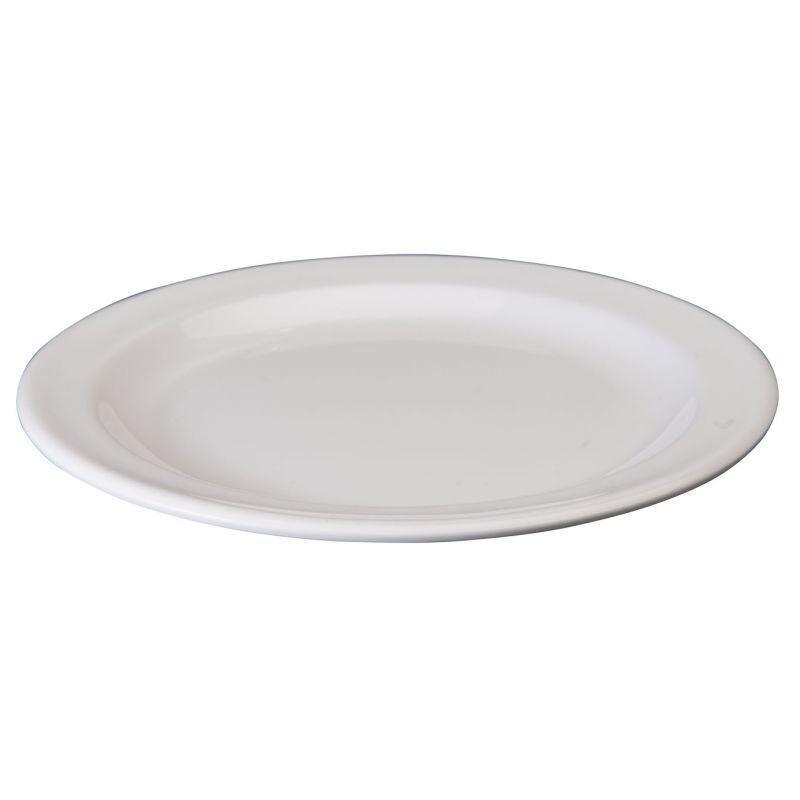 7-1/2 inches Melamine Round Dessert Plates, White