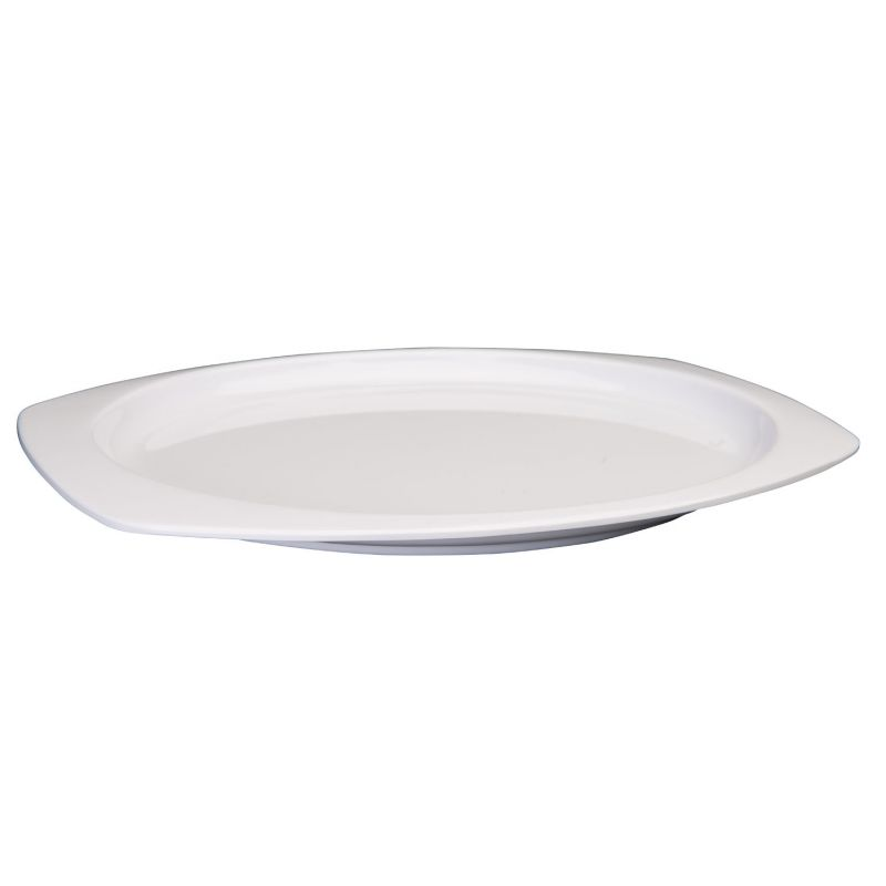 12-1/2 inches x 9 inches Melamine Rectangular Platters, Tan
