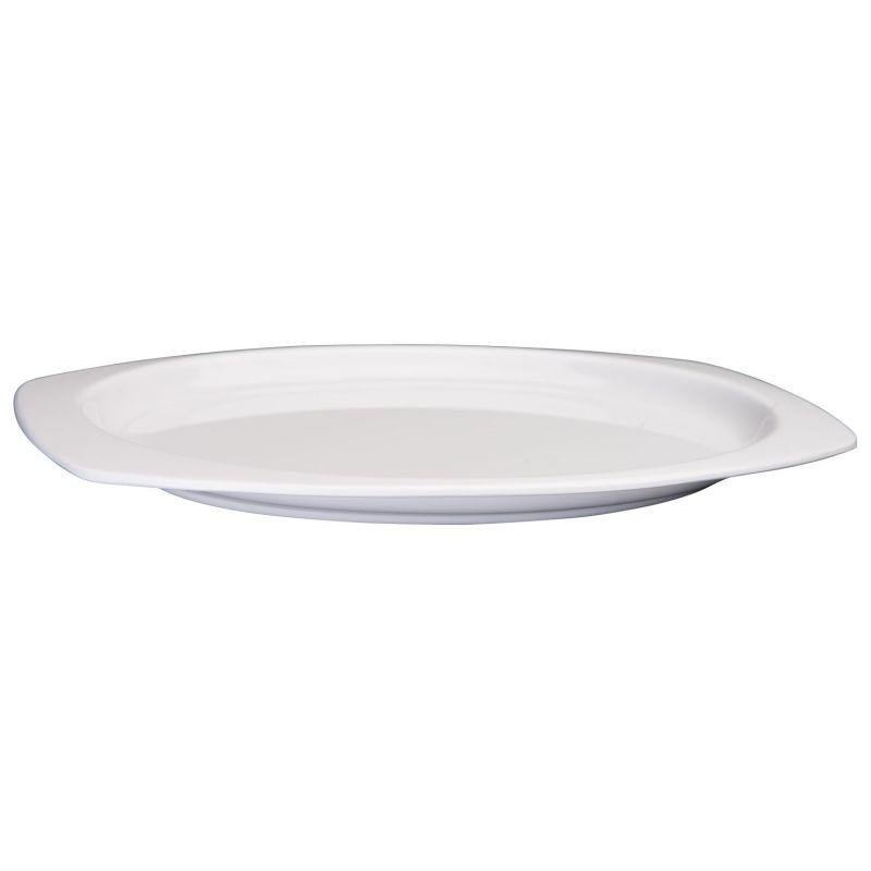 9-1/2 inches x 6-3/4 inches Melamine Rectangular Platters, White