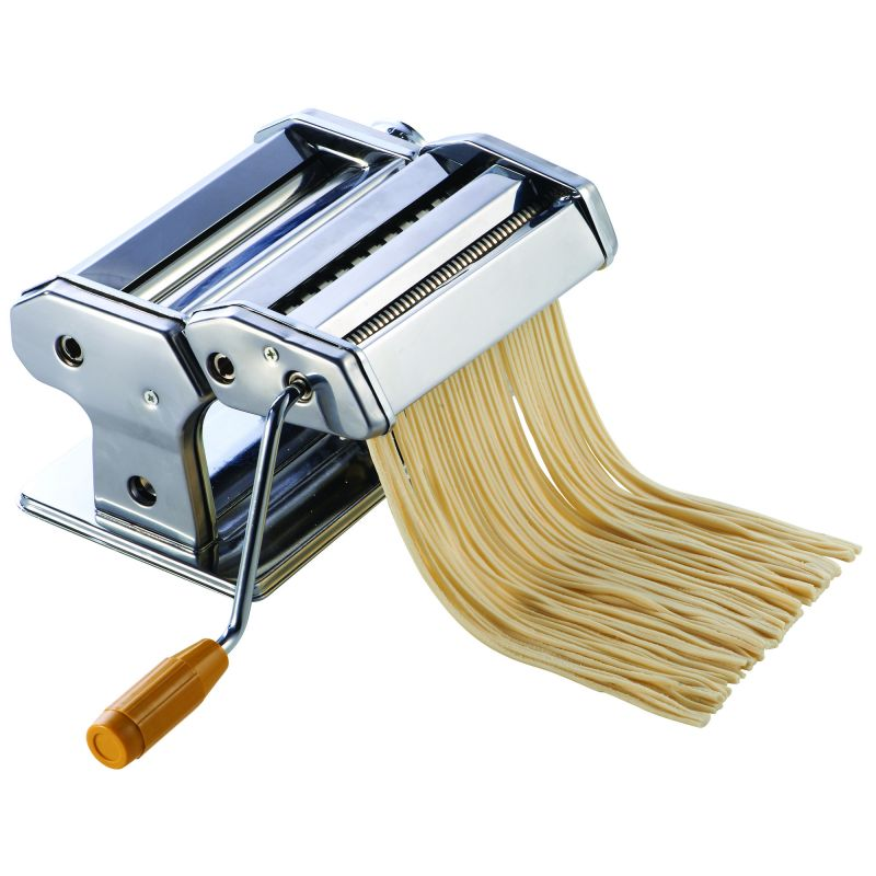 Pasta maker with detachable cutter, 7 inches W