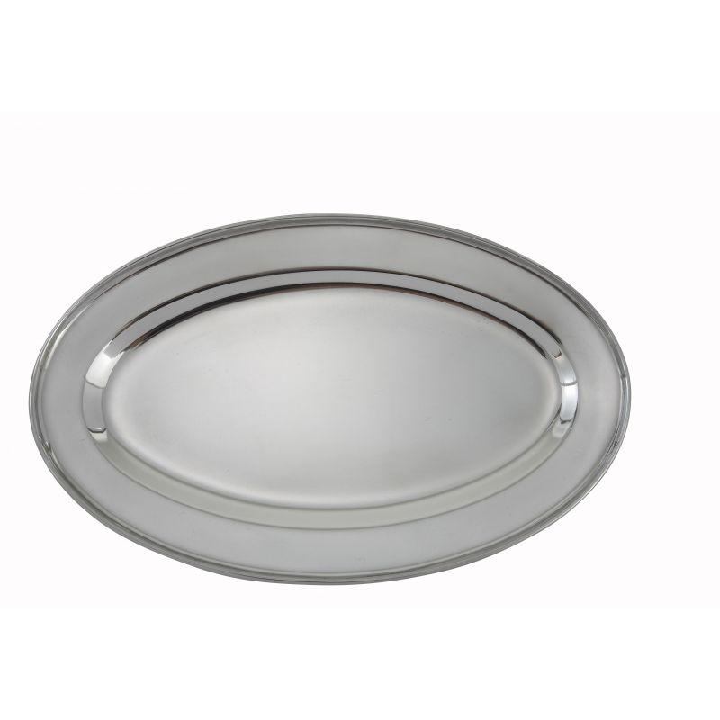 Serving Platter, Oval, 12 inches x 8-5/8 inches, S/S