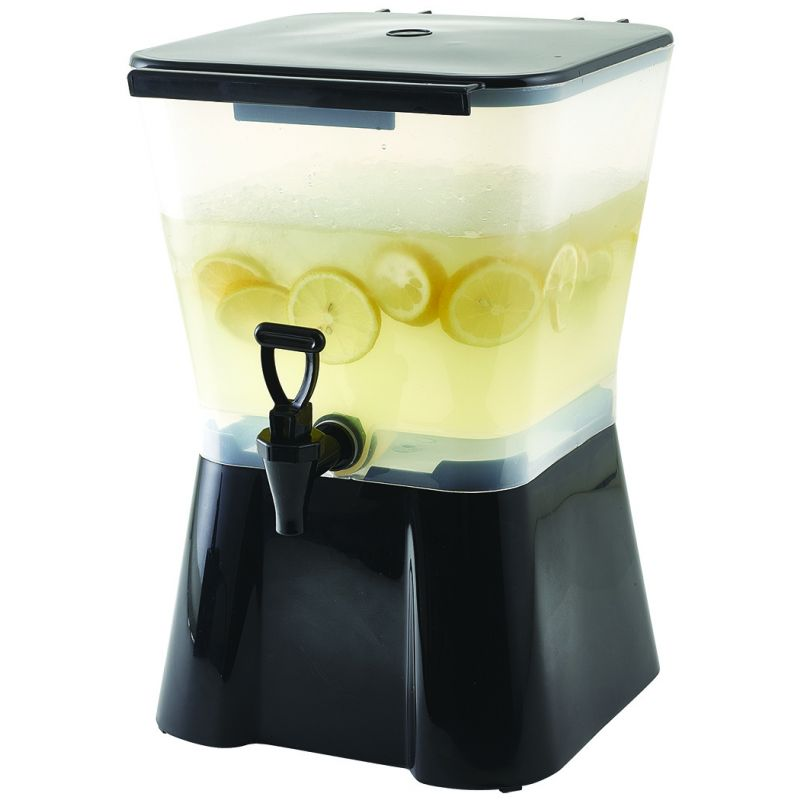 3gal Square Beverage Dispenser, Plastic