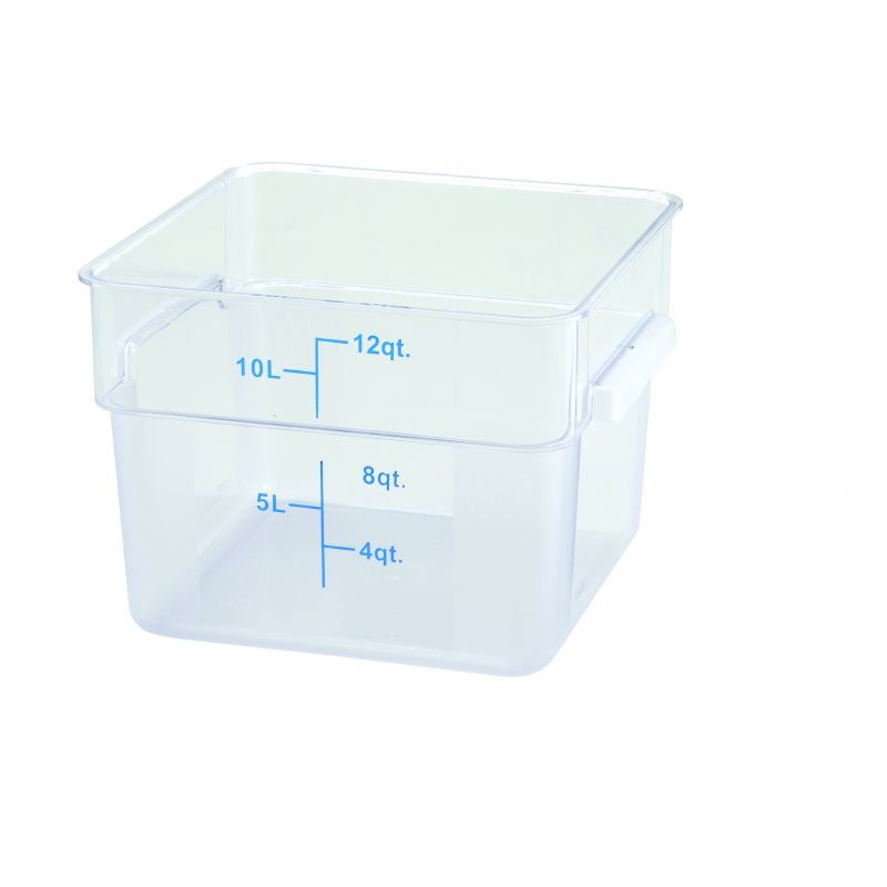 12qt Square Storage Container, Clear, PC