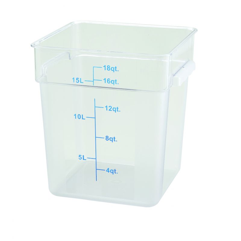 18qt Square Storage Container, Clear, PC