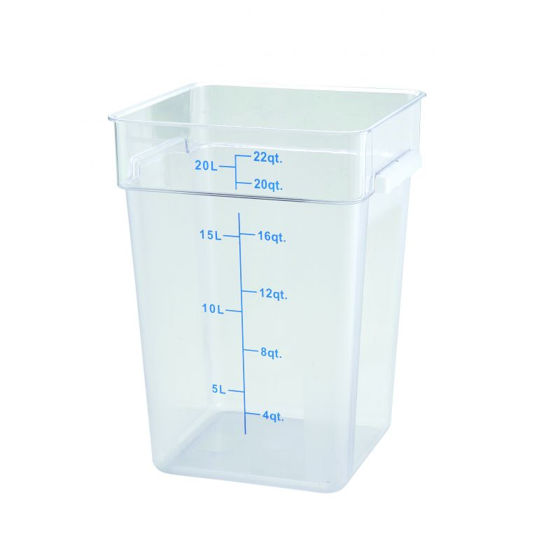 22qt Square Storage Container, Clear, PC