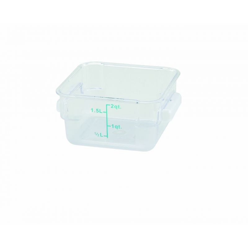 2qt Square Storage Container, Clear, PC