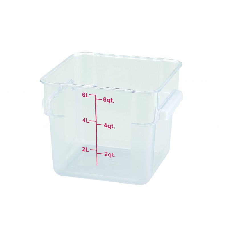 6qt Square Storage Container, Clear, PC