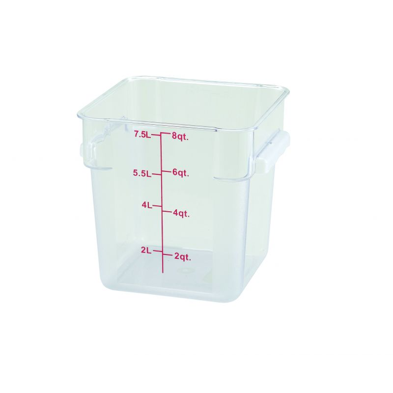 8qt Square Storage Container, Clear, PC
