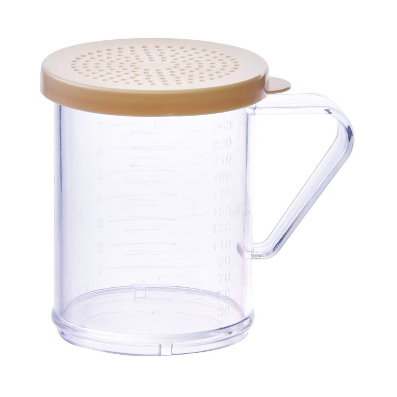 10oz Dredge with Beige Snap-on Lid, PC