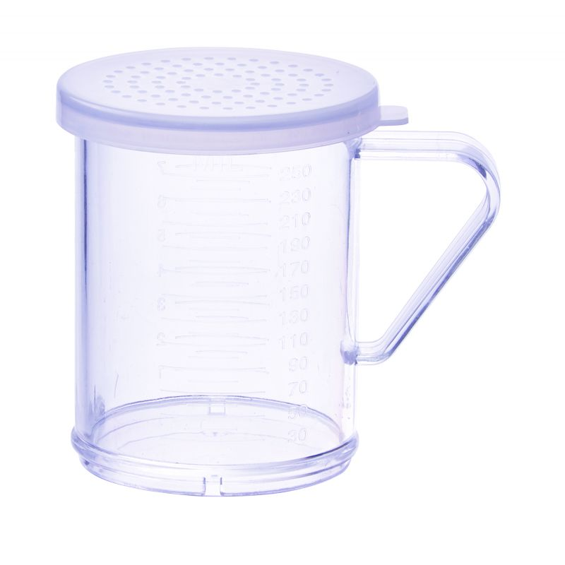 10oz Dredge with Clear Snap-on Lid, Medium Hole
