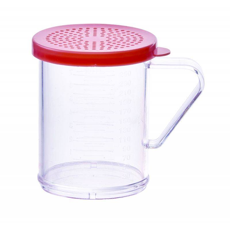 10oz Dredge with Rose Snap-on Lid, PC