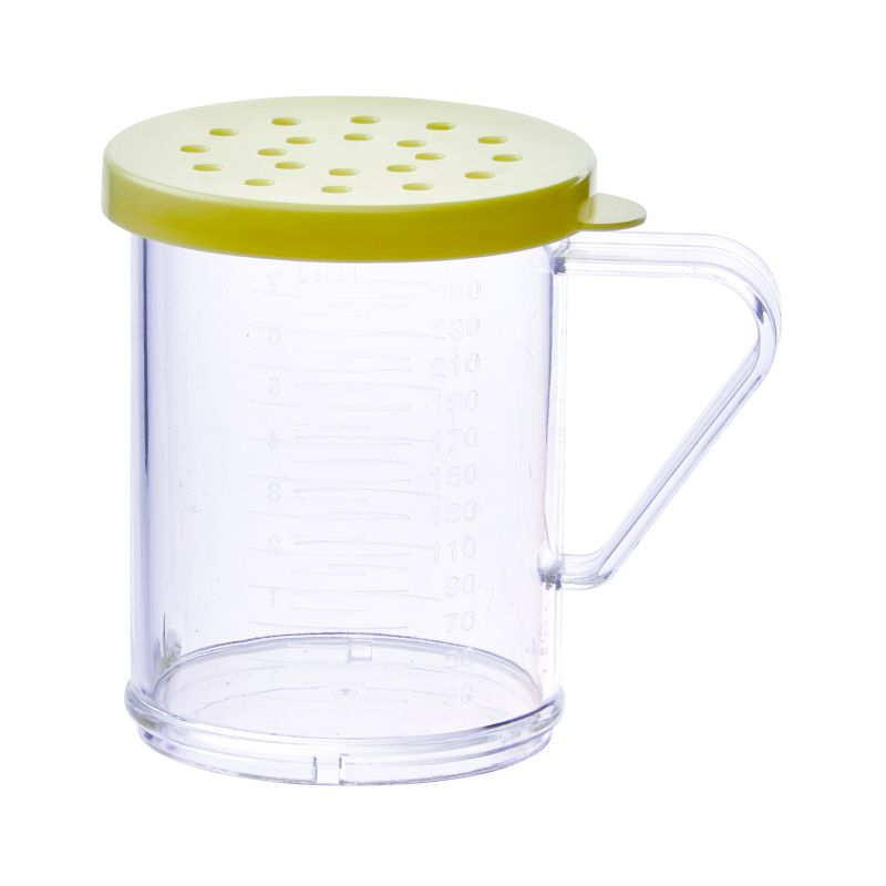 10oz Dredge with Yellow Snap-on Lid, PC