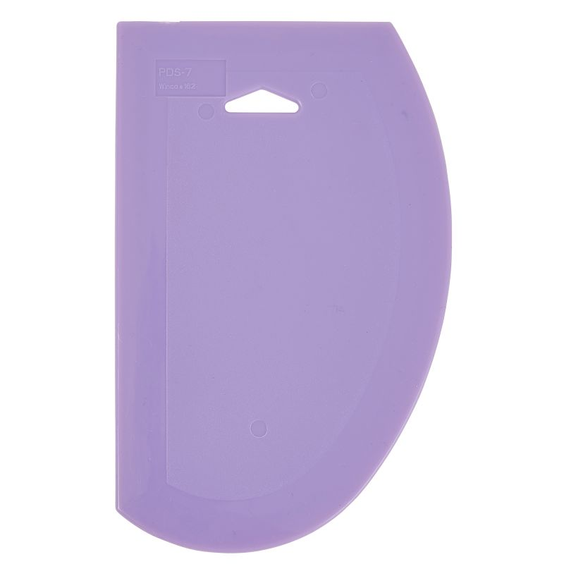 Plastic Dough Scrapers, Purple, Allergen Free, 7-1/2 inches x 4-3/4 inches, 6pcs/pk