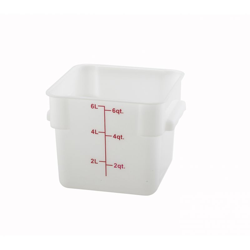 6qt Square Storage Container, White, PP