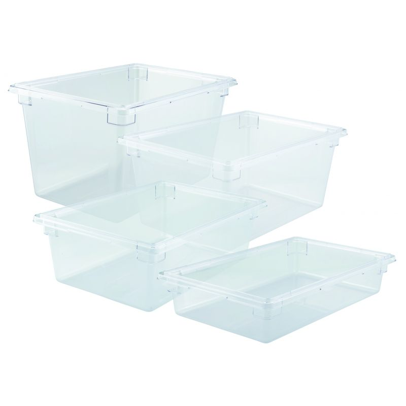 Food Storage Box, 18 inches x 26 inches x 6 inches, Clear, PC