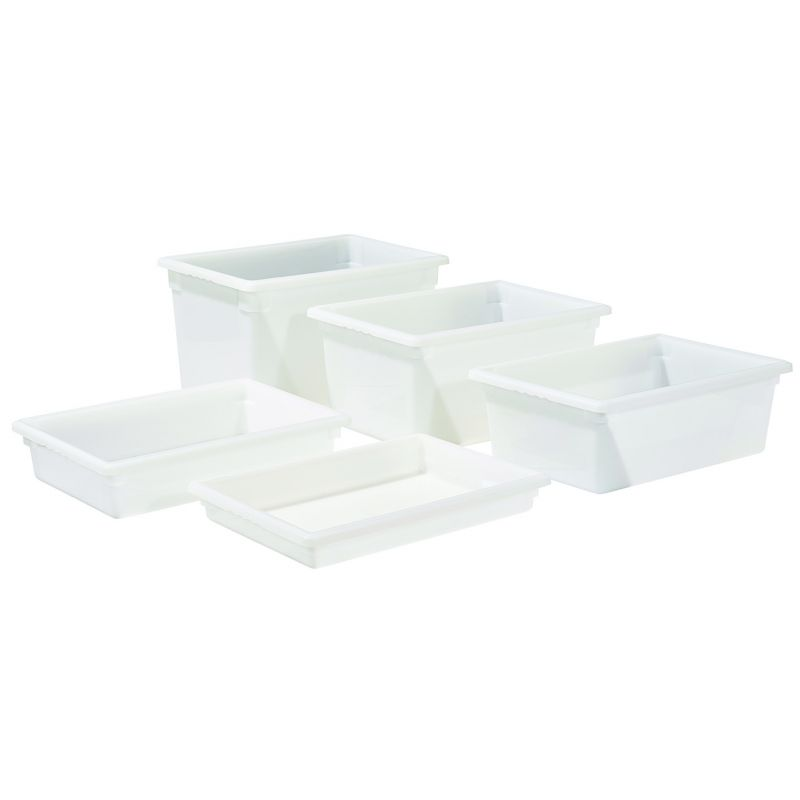 Food Storage Box, 18 inches x 26 inches x 3 inches, White, PP