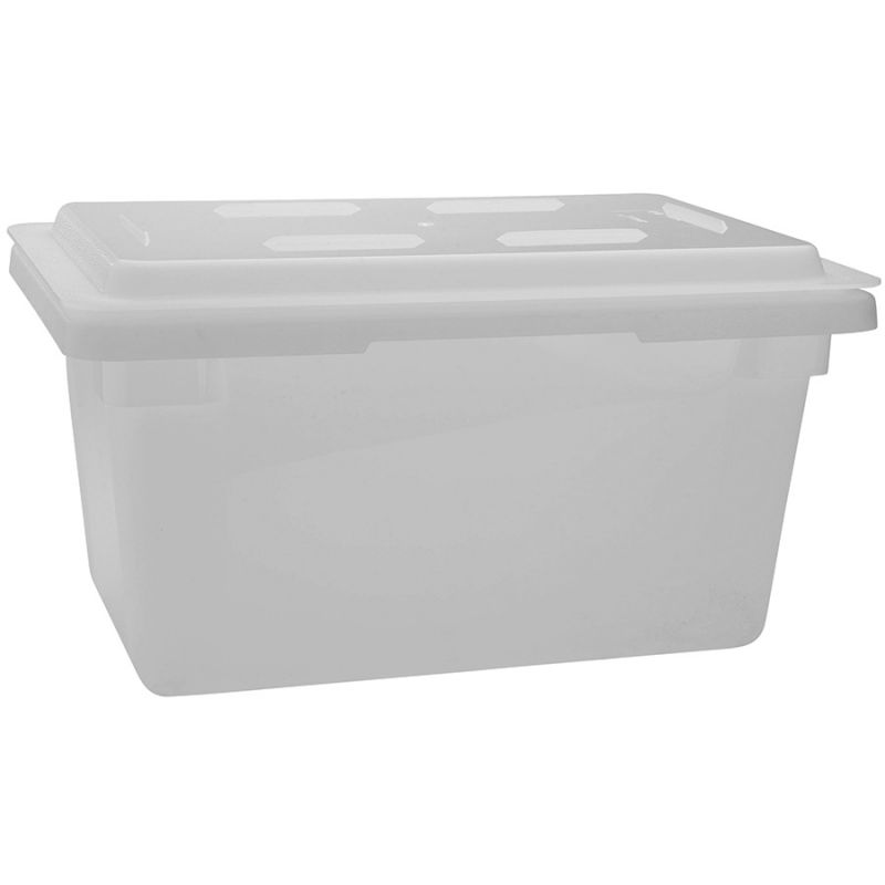 Food Storage Box , 12 inches x 18 inches x 3 inches, White, PP