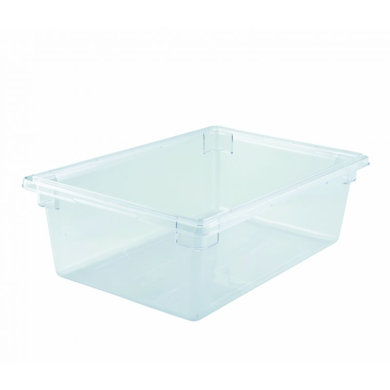 Food Storage Box, 18 inches x 26 inches x 9 inches, Clear, PC